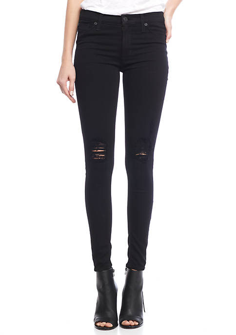 Hudson Jeans Nico Destructed Super Skinny Jeans