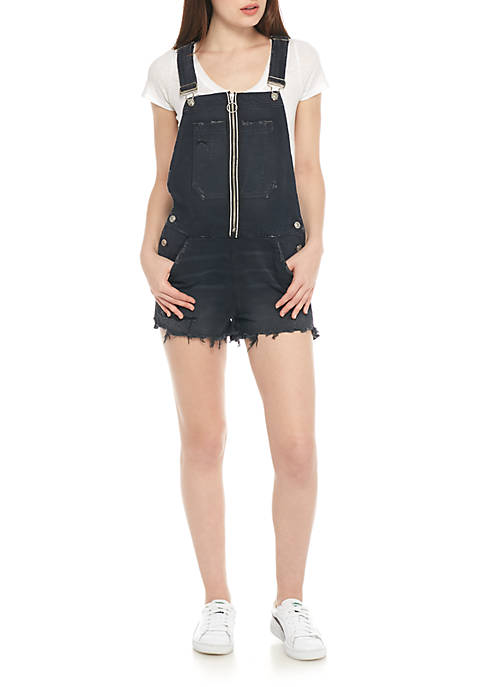 Hudson Jeans Joey Exposed Zip Short Overalls
