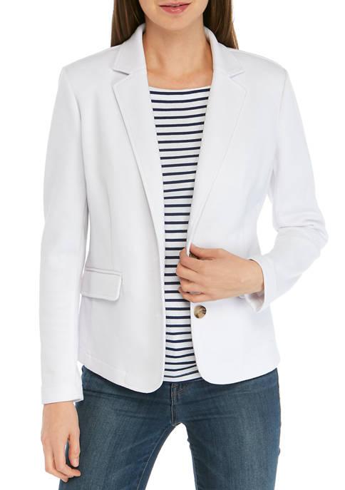 Kim Rogers® Womens Solid Blazer