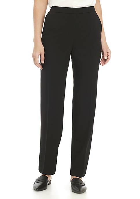 Kim Rogers® Womens Elastic Waist Pull On Pants