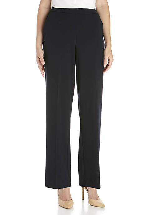 Kim Rogers® Womens Elastic Waist Pull On Pants