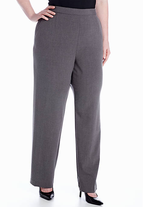 Kim Rogers® Plus Size Pull-On Flat Front Pant