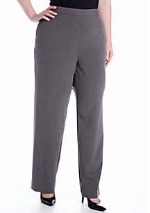 Plus Size Pull-On Flat Front Pant (Average and Short)
