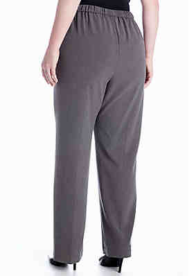 f9ff025897c6b ... Kim Rogers® Plus Size Pull-On Flat Front Pant (Average and Short)