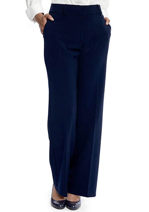 Womens Fly Front Slash Pocket Pants