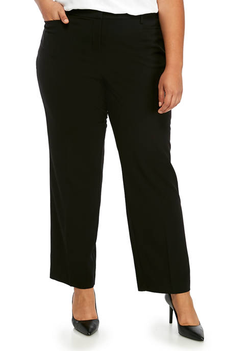 Kim Rogers® Plus Size Extend Tab Average Pants