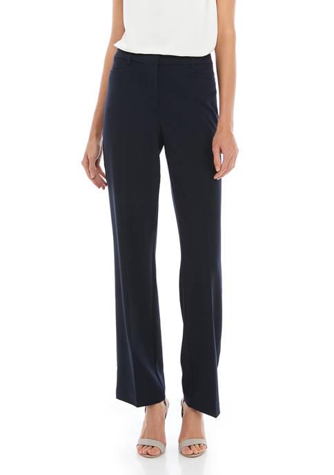 Kim Rogers® Womens No Gap Straight Leg Pants