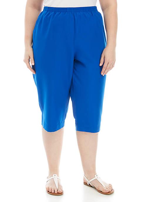 Plus Size Microfiber Capri Pants