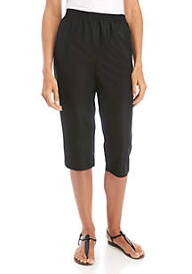 Kim Rogers® Microfiber Capri Pants