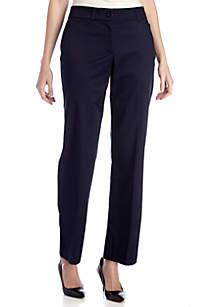 Kim Rogers® TWILL CURVY FIT NO GAP PANT  - Short length