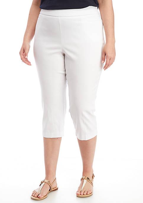 Kim Rogers® Plus Size Stretch Millen Capri