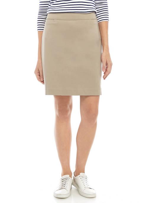 Kim Rogers® Womens Millennium Solid Skort