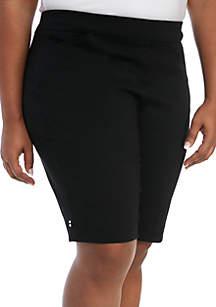Kim Rogers® Plus Size Millenium Bermuda Pull On Shorts