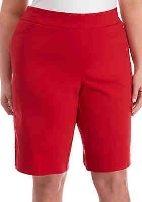 fea689622a7f2 Kim Rogers® Plus Size Millenium Bermuda Pull On Shorts ...