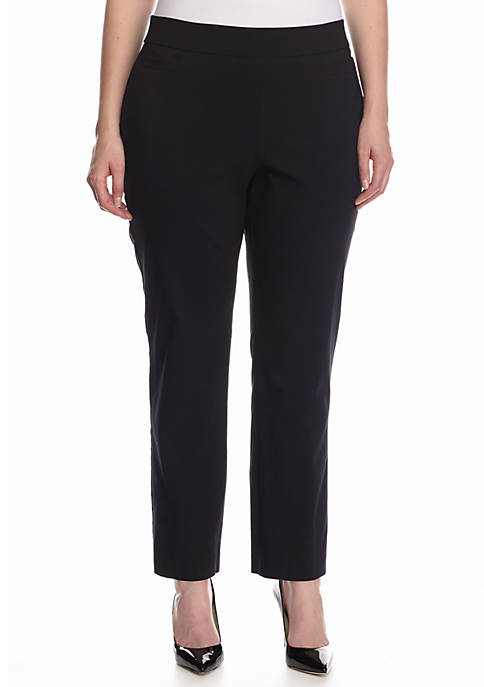 Kim Rogers® Plus Size Solid Dress Pants- Short