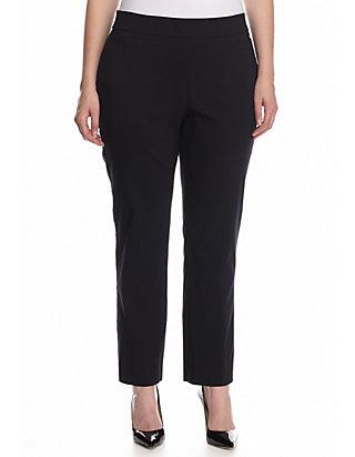 Kim Rogers® Plus Size Solid Dress Pants- Short