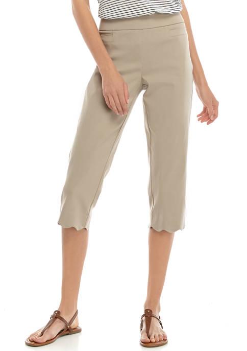 Kim Rogers® Womens Millennium Scallop Hem Capri Pants