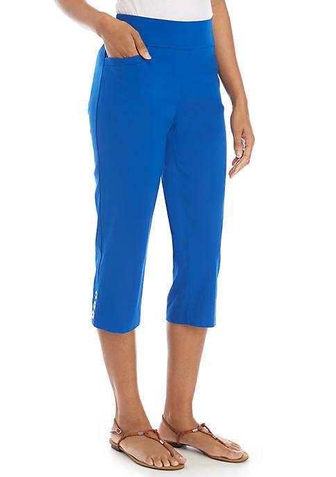 Kim Rogers® Grommet Capri Pants