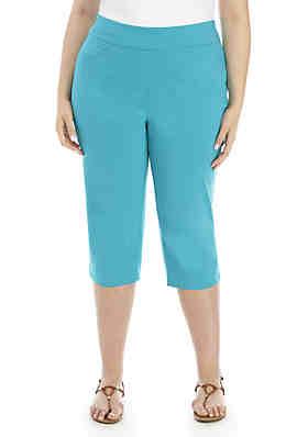 f8d14bf7ba2 Kim Rogers® Plus Size Millenium Capri Pants ...