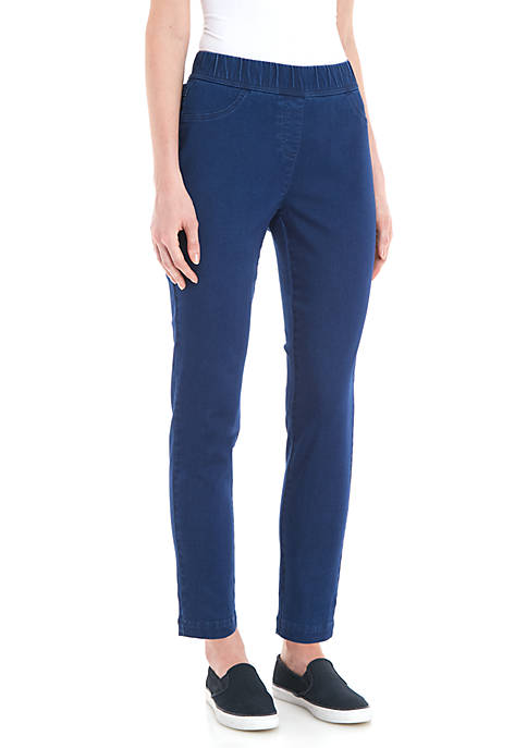 Kim Rogers® Knit Pull-On Medium Wash Ankle Pants