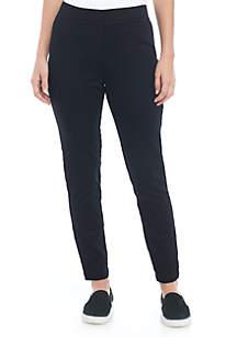 Black Pull-On Ankle Pants