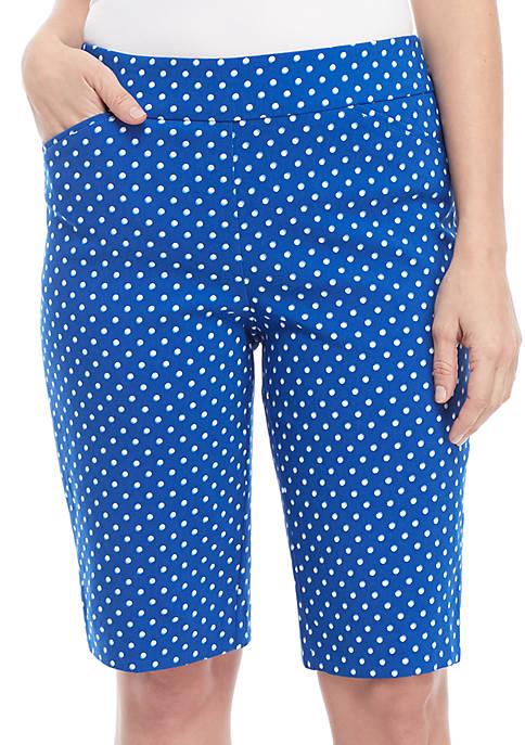 Kim Rogers® Millennium Bermuda Dot Print Pants
