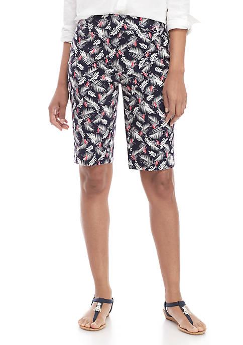 Millennium Print Bermuda Shorts