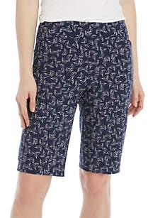 Kim Rogers® Millenium Printed Bermuda Shorts