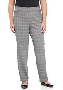 Plus Size Menswear Print Millennium Average Length Pants