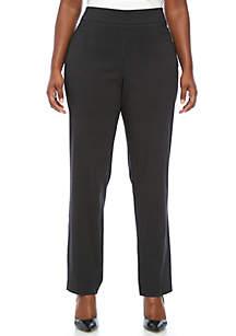 Plus Size Dot Print Millennium Average Length Pants
