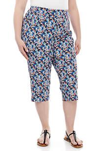 Kim Rogers® Plus Size Print Millenium Capri Pants