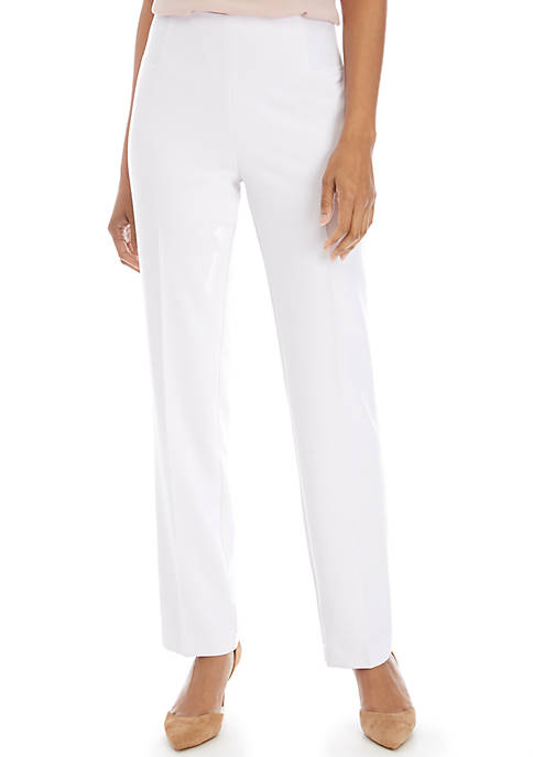 Kim Rogers® Smooth Tech White Suiting Pants