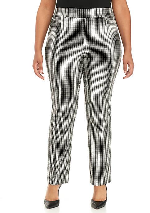Kim Rogers® Plus Size Houndstooth Millennium Pants