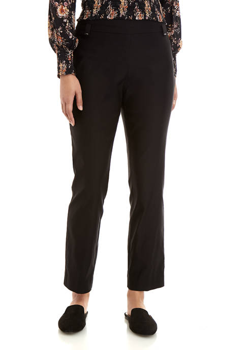 Kim Rogers® Petite Luxe Straight Leg Average Pants