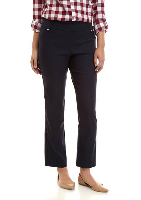 Kim Rogers® Petite Luxe Straight Leg Average Pants