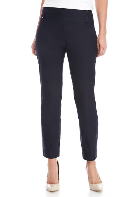 Kim Rogers® Womens Luxe Pull On Straight Leg