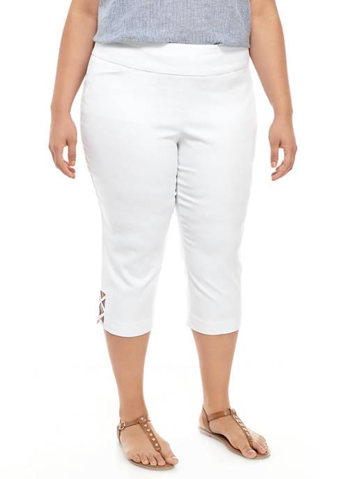 Kim Rogers® Plus Size Luxe Capri Pants with