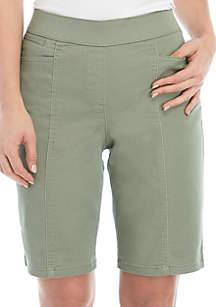 Kim Rogers® Petite Cotton Bermuda Shorts