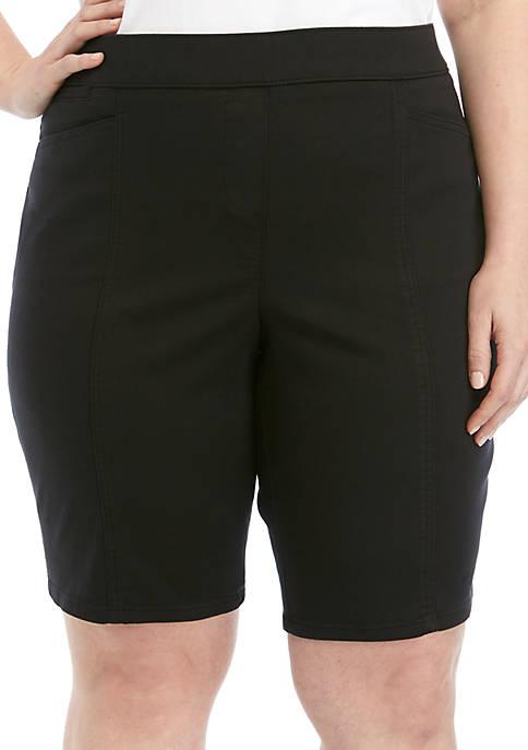 Kim Rogers® Plus Size Cotton Bermuda Shorts