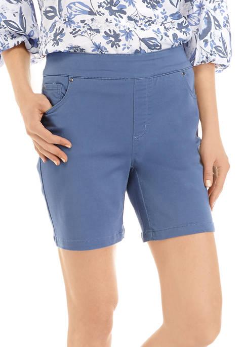 Kim Rogers® Womens 7 Inch Cotton Shorts