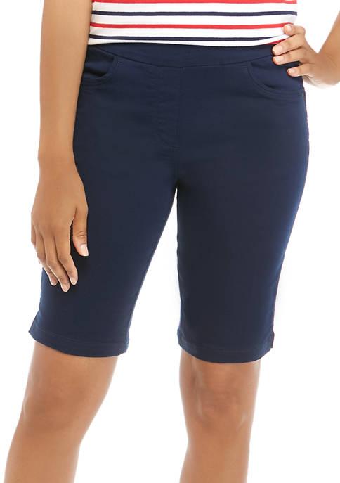 Kim Rogers® Petite Solid Cotton Bermuda Shorts