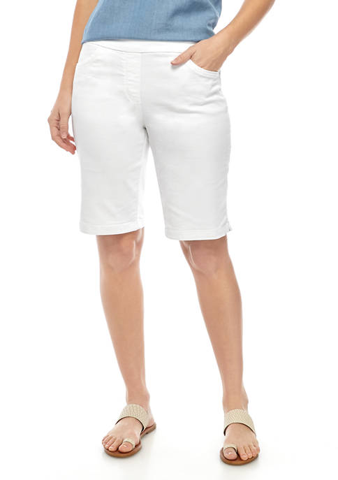 Kim Rogers® Womens Cotton Bermuda Shorts