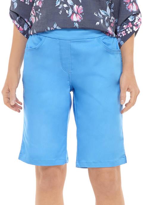 Kim Rogers® Womens Cotton Bermuda Shorts