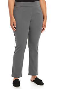 Kim Rogers® Plus Size Cotton Pants