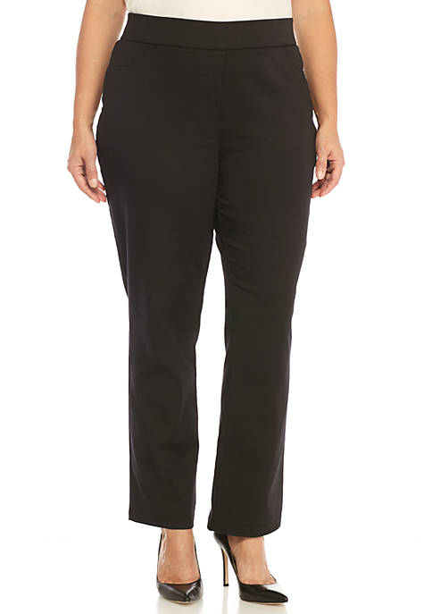 Plus Size Stretch Twill Average Pants
