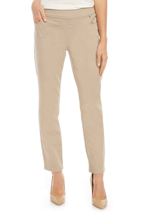 Kim Rogers® Petite Pullon Denim Average Pants
