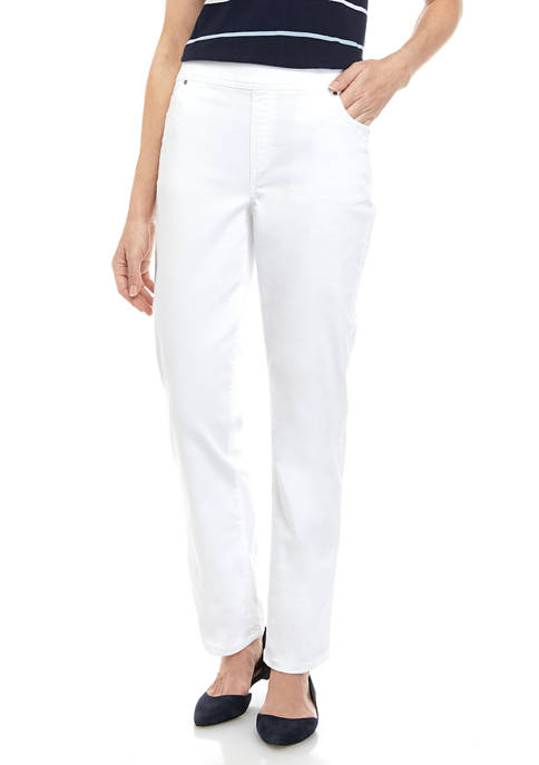 Kim Rogers® Womens Colored Pull On Denim Pants