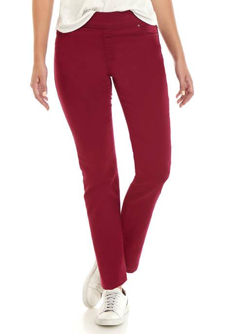 Kim Rogers® Womens Colored Pull On Denim Pants