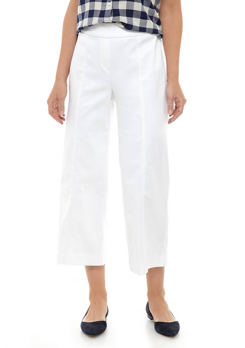 Kim Rogers® Womens Cotton Wide Leg Pants