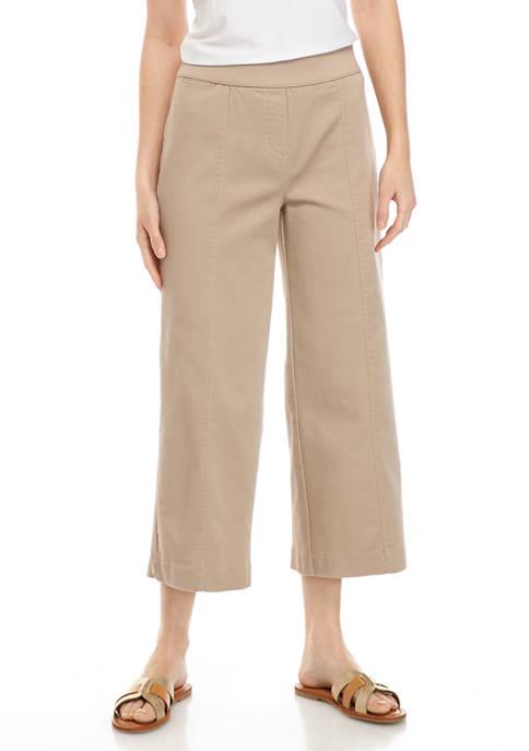 Kim Rogers® Womens Cotton Wide Leg Pants